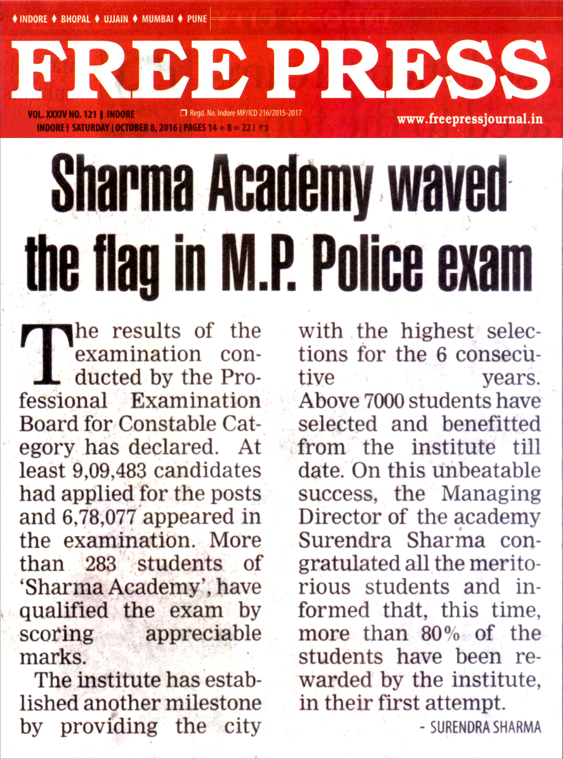 Sharma Academy mppsc Coaching in indore